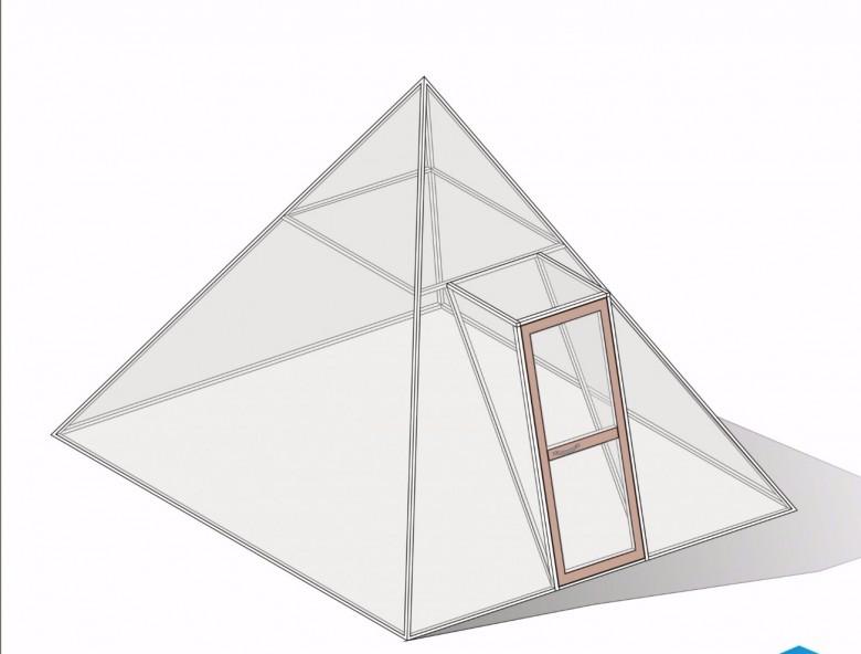 Пирамида из поликарбоната своими руками чертежи 37