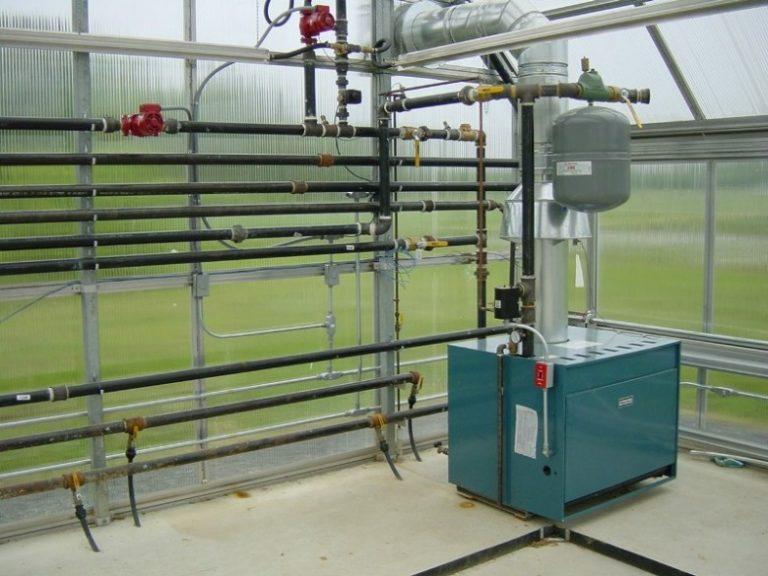 Газовая отопительная система тепличного помещения